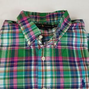 Ralph Lauren Plaid Slim Fit Button Down Shirt XXL